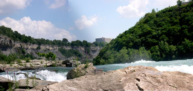 This photo was taken from the northern end of the Whirlpool looking upstream.